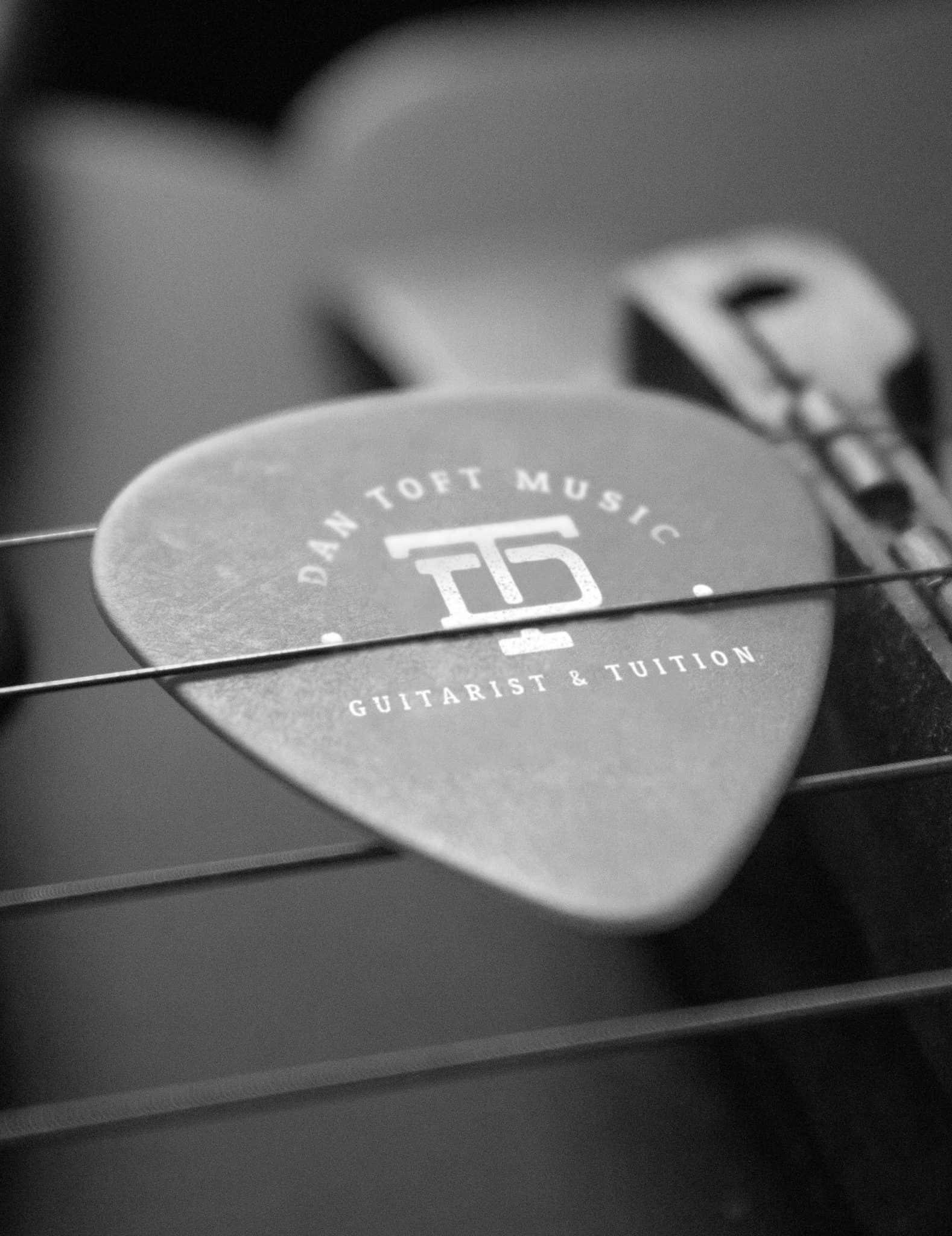 Guitar Pick Logo Design Mock Up