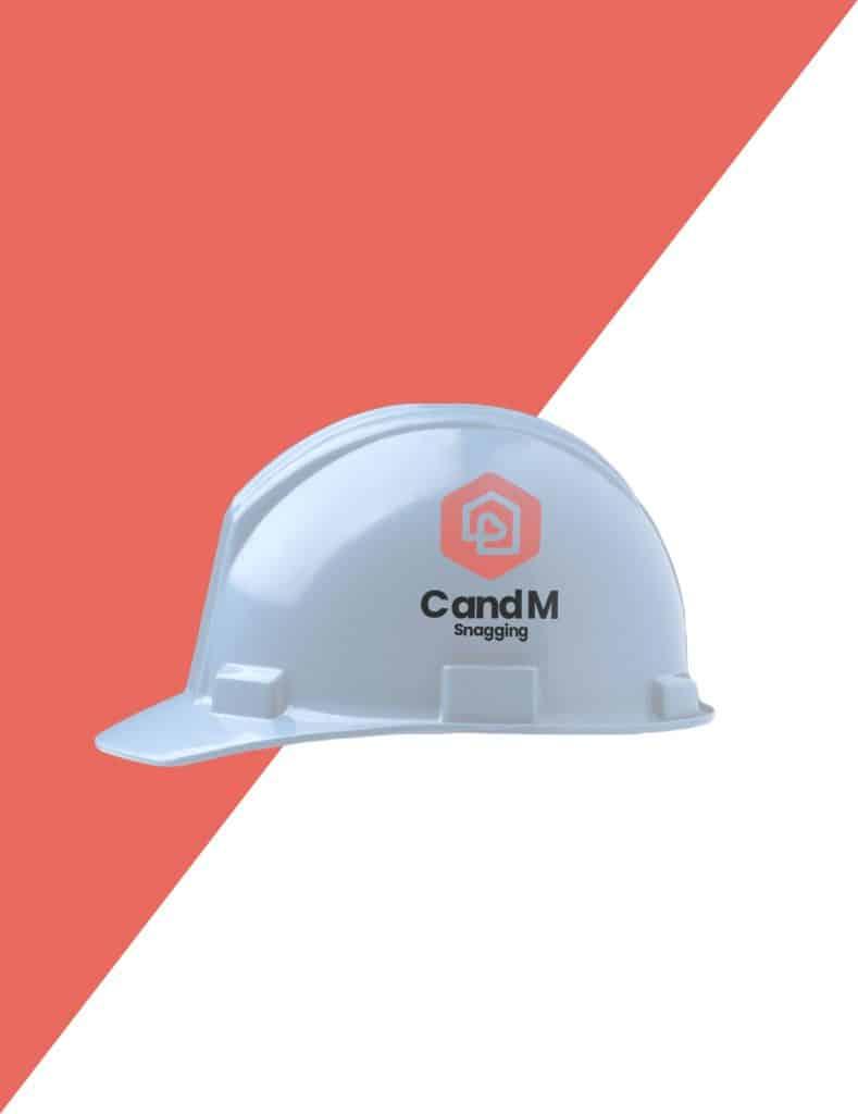 Logo Design On Hard Hat Mock up